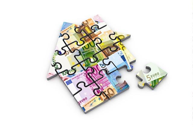 domek z puzzle