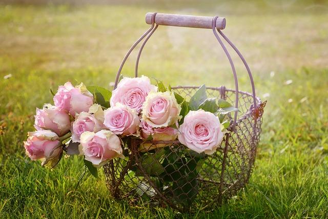 koš na květiny
